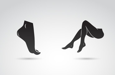 Foot and legs vector icon.