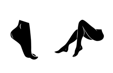 Foot and legs vectoricon.
