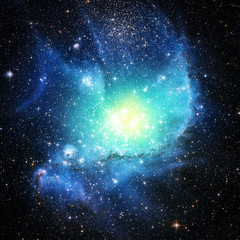 Star and Galaxy - Elements of this Image Furnished by NASA