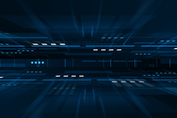 Dark blue technology motion background