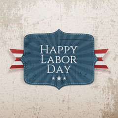 Happy Labor Day Text on Tag