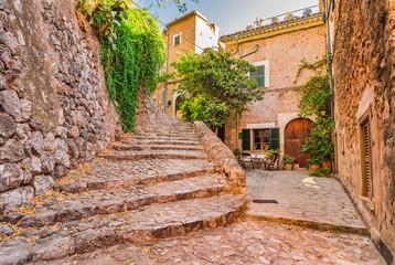Old idyllic mountain village Majorca Fornalutx Spain