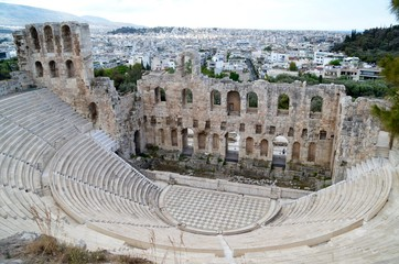 Ancient theatre Odeon of Herodes Atticus - Acropolis Athens Greece