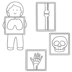 vector set of x-ray