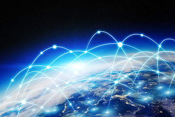 Global network and data exchange over the world