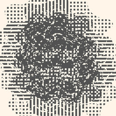 Abstract grunge vector background. Monochrome raster composition of irregular graphic elements. Created using handmade camera-less photographic print.