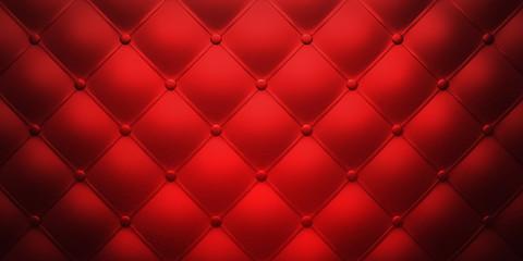 Rotes Leder-Polster