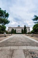 The Sabatini Gardens in Madrid, Spain.