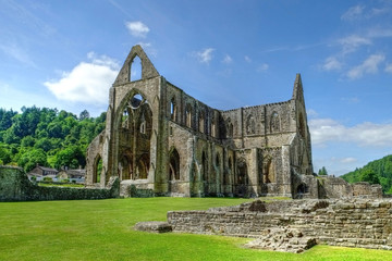 Tintern Abbey Monmouthshire  Wales UK The Remains of Cistercian monastery popular tourist destination