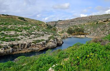 Mgarr ix-xini, a beautiful bay on the coast of  Gozo, Malta.