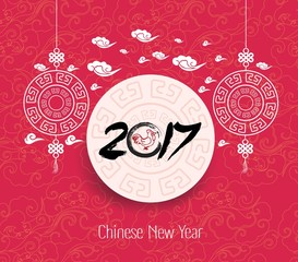 Oriental Chinese New Year 2017 background