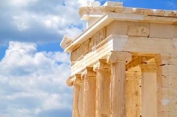 Pediment of the temple of Athena Nike Acropolis Athens Greece