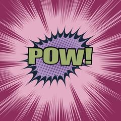 Pow comic cartoon wording