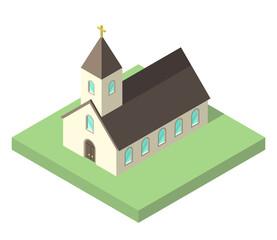 Beautiful small isometric church