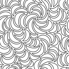 Abstract seamless crescent pattern.