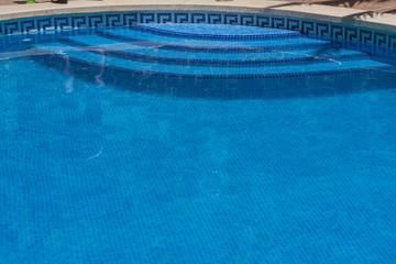 Detail Schwimmbad mit Treppe