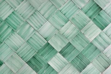 Sfondo con piastrelle di ceramica verde in Italia, Amalfi, Vietri