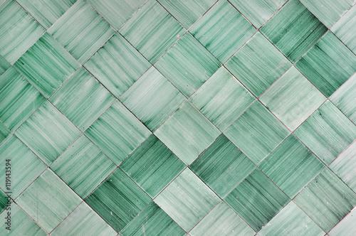 Sfondo con piastrelle di ceramica verde in italia amalfi vietri