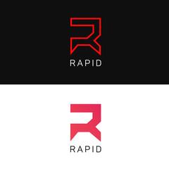 R letter logo sign vector element icon. Label brand identificati