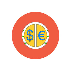 Vector illustration in flat design of currency exchange