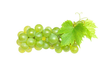 White grapes, isolated on white