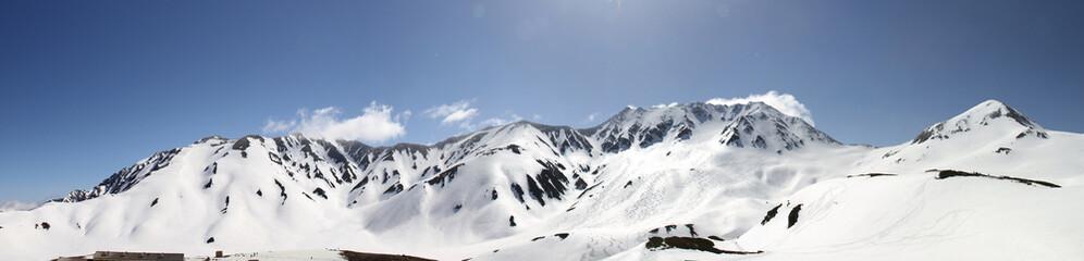 立山連峰 5月パノラマ