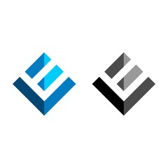 L E Letter Logo template