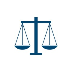 Simple Scale of Justice Law Firm Logo