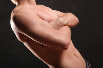 nude male torso and muscle