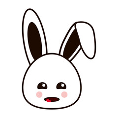 flat design Cute rabbit cartoon vector illustration