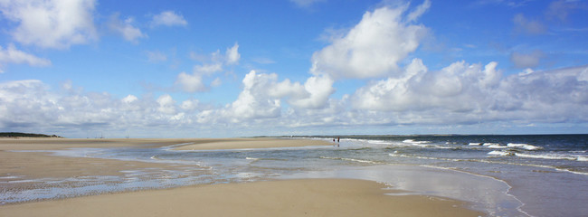 Panorama - Sandbank im Wattenmeer