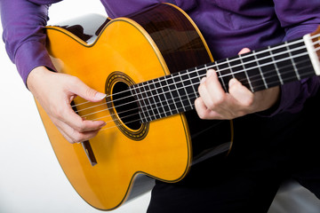Acoustic guitar guitarist man classical. Classic player music pl