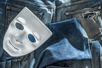 Mask and jeans
