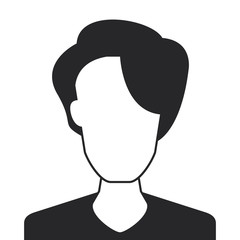 flat design faceless woman portrait icon vector illustration