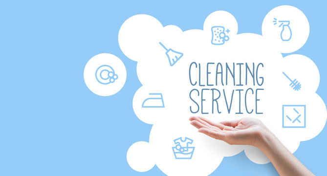 Poster template for house cleaning