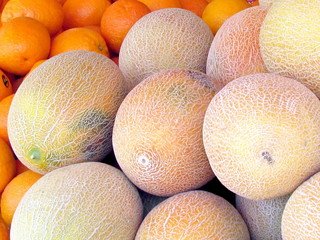 Tel Aviv melons and oranges 2012