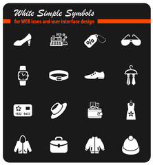 clothes shop icon set