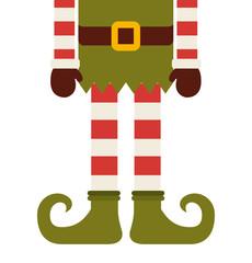 christmas elf character isolated icon