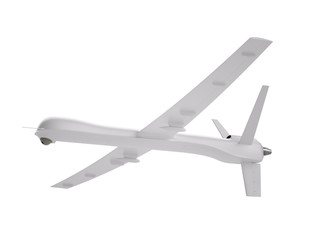 Unmanned aerial vehicle isolated on white