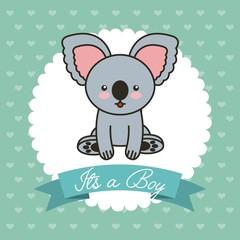 cute koala animal card baby shower