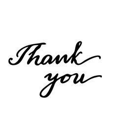 Thank you Hand drawn lettering card