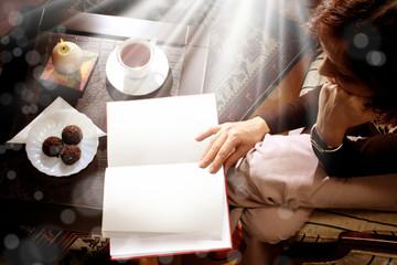 woman reading indoor