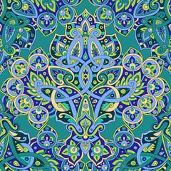 Printed kitchen splashbacks Moroccan Tiles Ethnic seamless pattern.