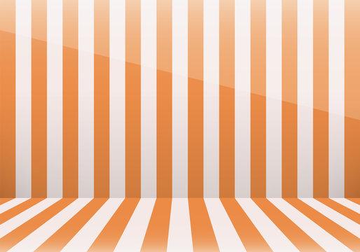 縞模様の部屋(オレンジ)