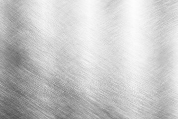 Photo sur cadre textile Metal Sheet metal silver solid black background