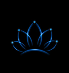 Lotus blue teamwork flower logo