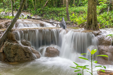 Waterfall and forest at Kanjanaburi, Thailand Aug 2016