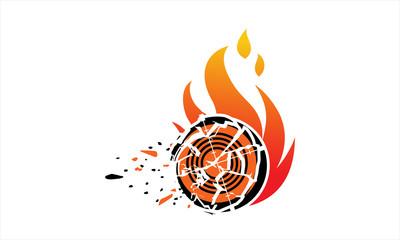 Skeet shooting fire logo