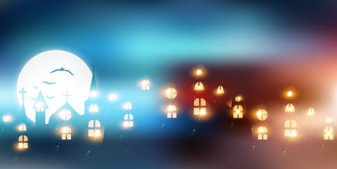 ハロウィン 城 夜 背景
