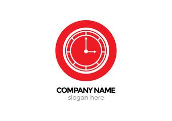 red clock vector logo